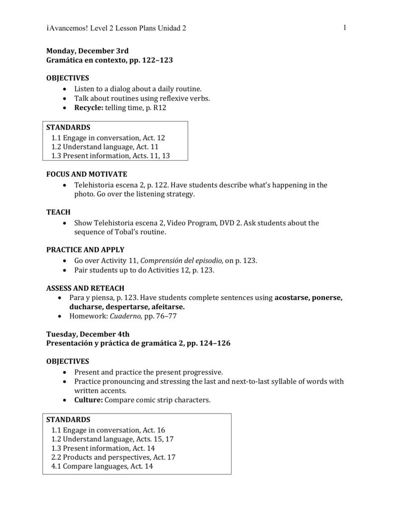 WRG-1822] Unidad 1 Leccion 2 Answers