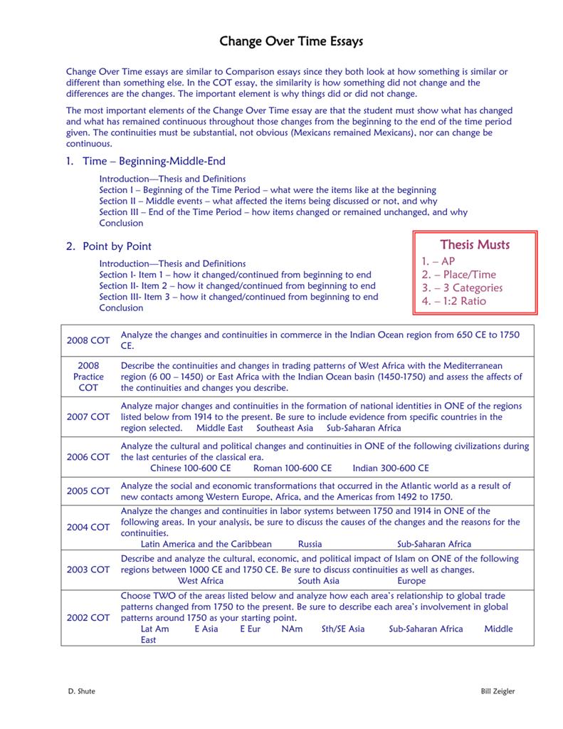atlantic world ccot essay 2005