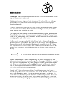 How did Hinduism begin - In the event that there is