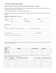 UNIVERSAL APPLICATION FORM