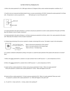 fun with water potential worksheet