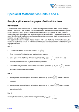 Sample application task – graphs of rational functions