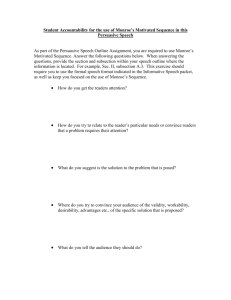 Student Instructions for Monroe's Motivated Sequence Activity