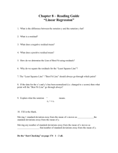 AP Statistics Chapter 8 Linear Regression