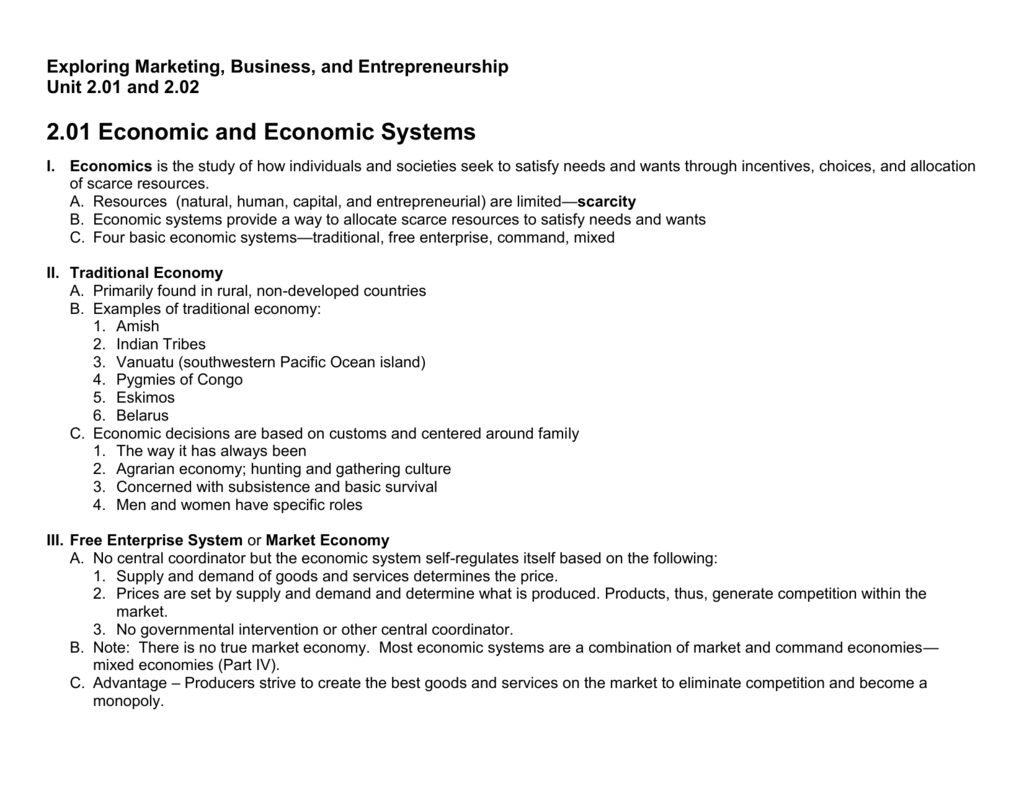 201 202 Notes Economic Systems