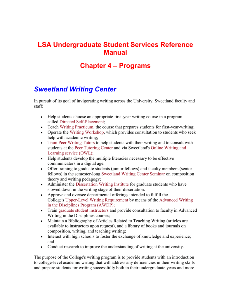 sweetland dissertation writing institute