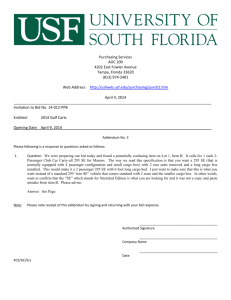 division of purchasing - University of South Florida