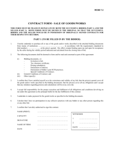 contract form - sale of goods/works