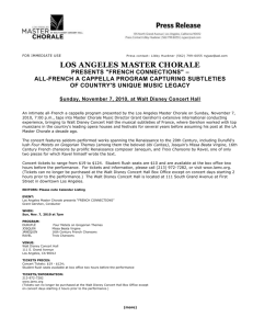 Word document - Los Angeles Master Chorale