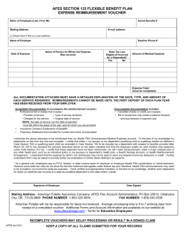 Submitting Your Health Care FSA Claim... form