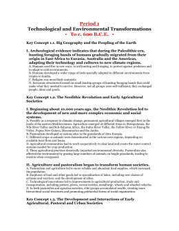 Period 1: Technological and Environmental Transformations, to c