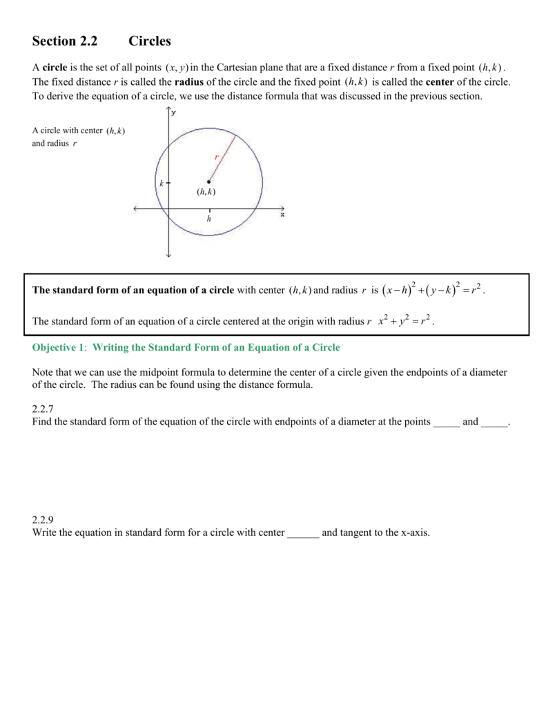 Chapter 2 The Cartesian Coordinate System Lines And Circles