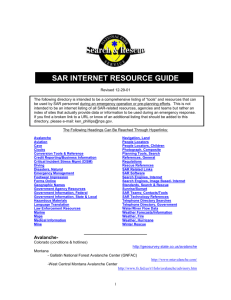 SAR Internet Resource Guide Rev. 12-29-01