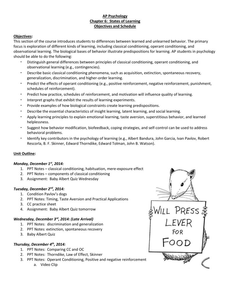 psychology unit 4 notes