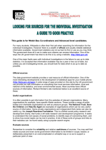 Finding Sources for the Individual Investigation