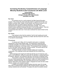 Increasing Vocabulary Comprehension of Language Minority