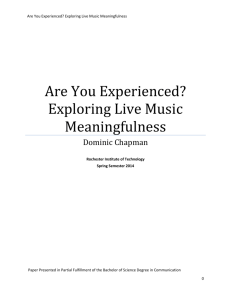 Are You Experienced? Exploring Live Music Meaningfulness