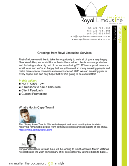 Greetings from Royal Limousine Services First of all, we would like