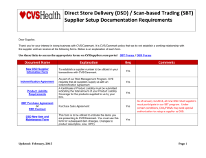Direct Store Delivery (DSD) / Scan