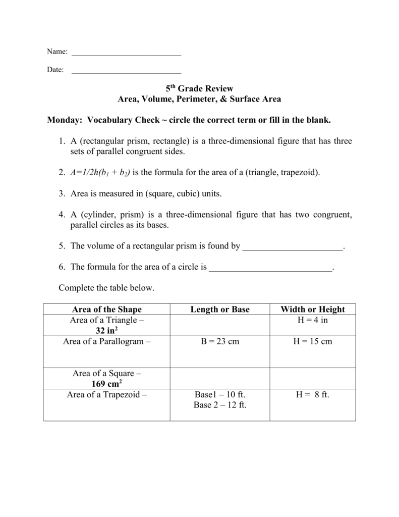worksheet Volume Of A Trapezoid Benaffleckweb Worksheets for – Area of Trapezoids Worksheet