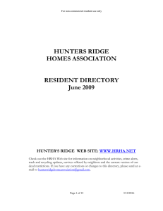 hunters ridge home association