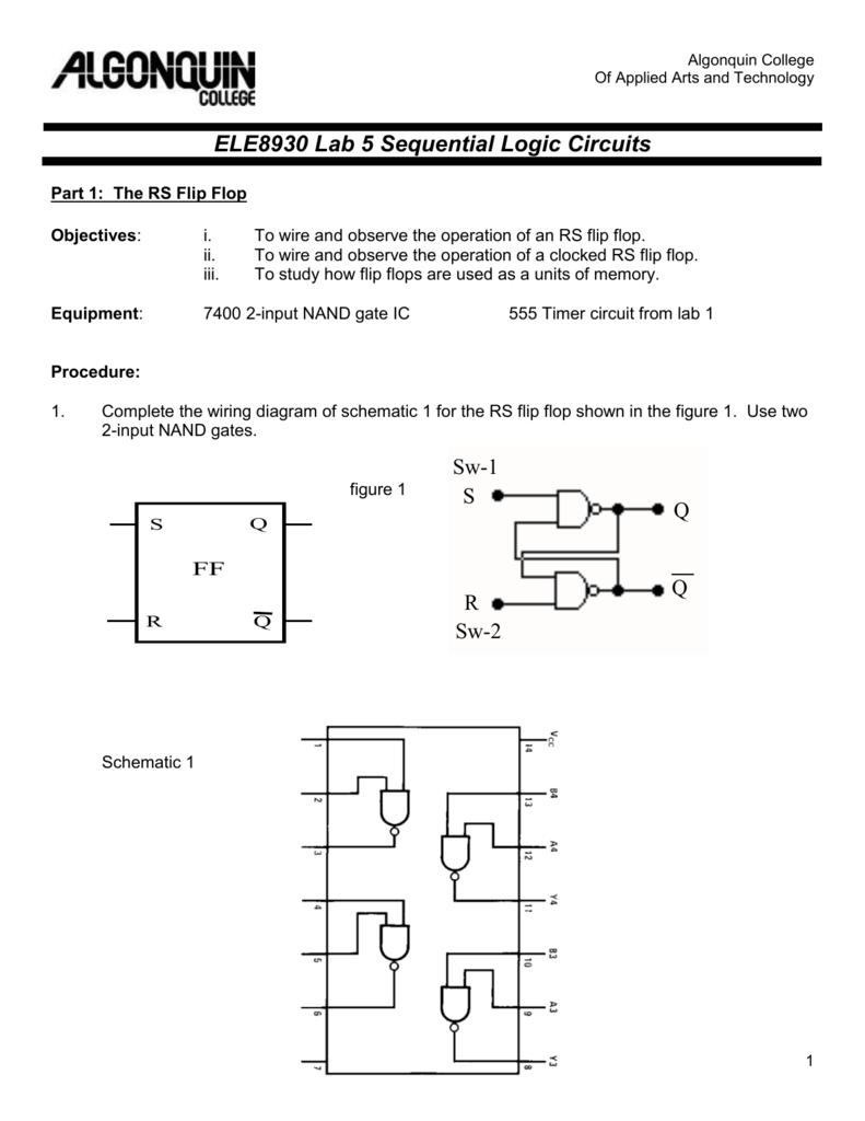 Sr Flip Flop Truth Table Nand Gate Circuit Diagram