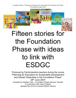 Foundation Phase ESDGC books and ideas