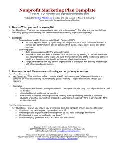 Nonprofit Marketing Plan Template (MS Word doc)