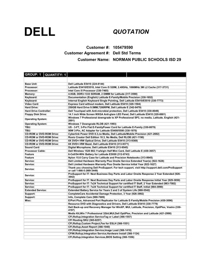 dell quotation customer 105479590 customer agreement