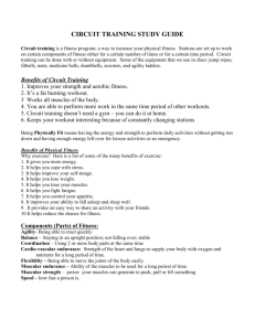 CIRCUIT TRAINING STUDY GUIDE