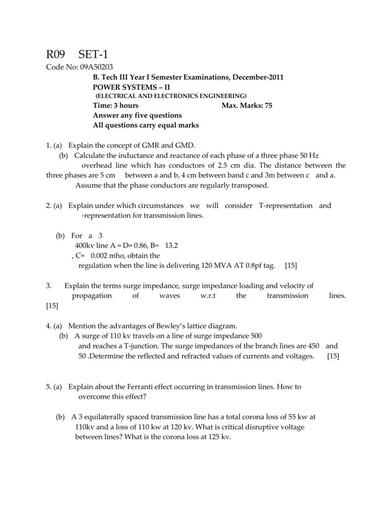 R09 SET-1 Code No: 09A50203 B  Tech III Year I Semester