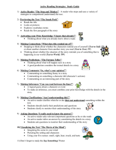 Active Reading Strategies: Study Guide