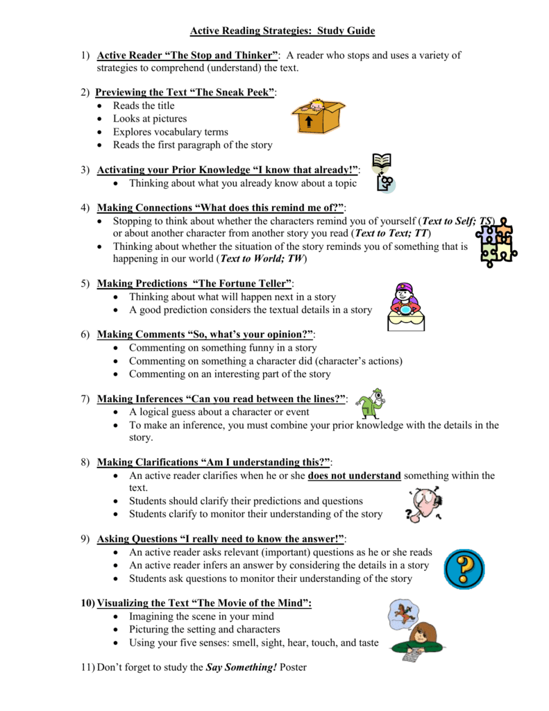 Worksheets Active Reading Strategies Worksheet active reading strategies study guide
