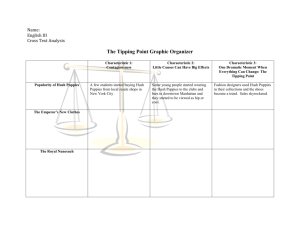 The Tipping Point Graphic Organizer