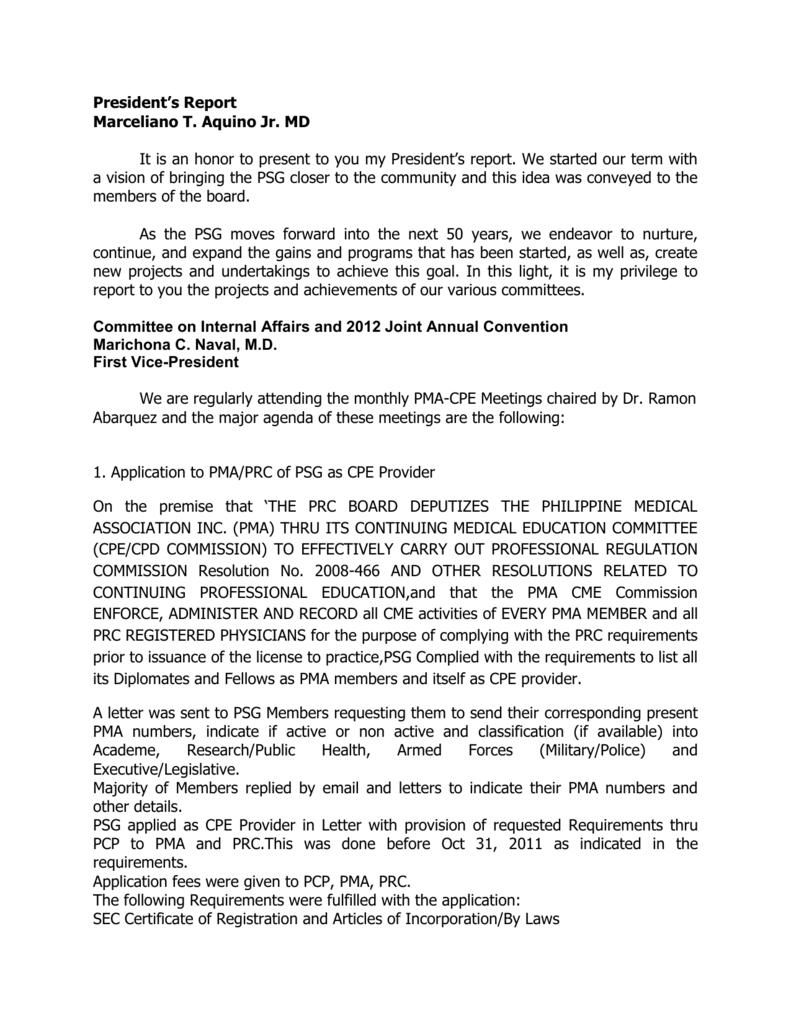 presidents-report-2012 - Philippine Society of Gastroenterology