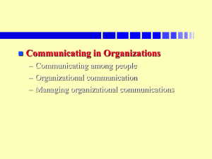 Communicating in Organizations