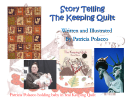 The Keeping Quilt - Open Court Resources.com