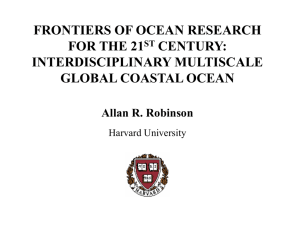 Allan Robinson, Lecture One - School for Marine Science and