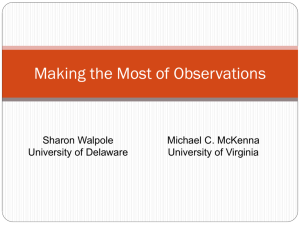 Making the Most of Observation