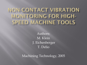 Non-Contact vibration monitoring for high