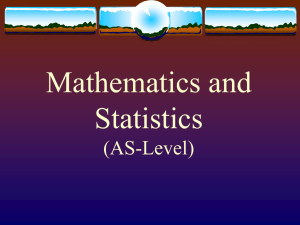 Mathematics and Statistics