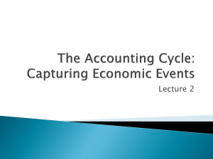 The Accounting Cycle: Capturing Economic Events