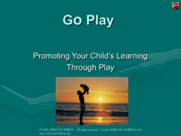Go Play – Introduction