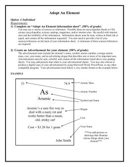 adopt a element Adopt an Element