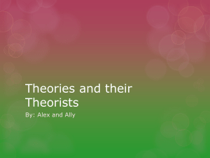 Theories and their Theorists - UHS-CD3