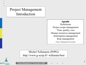 Project management in 60 slides