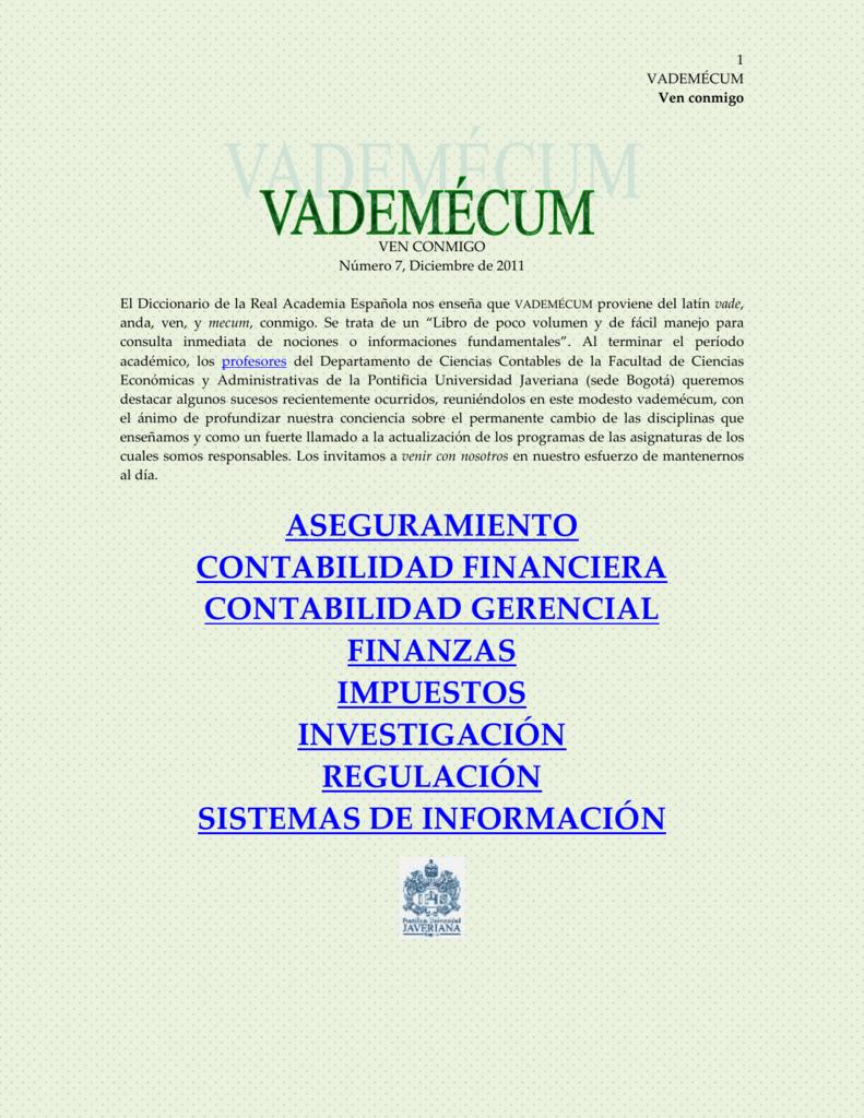Ven conmigo - Pontificia Universidad Javeriana