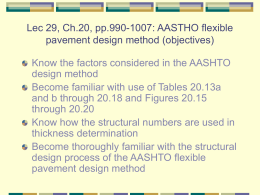 AASTHO flexible pavement design method