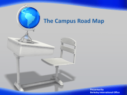Campus Road Map for Freshman [ppt]