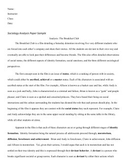Chapter  Film Analysis Paper Assignment Sociological Case Study Example Need Help Assignment also High School And College Essay  Thesis For Narrative Essay